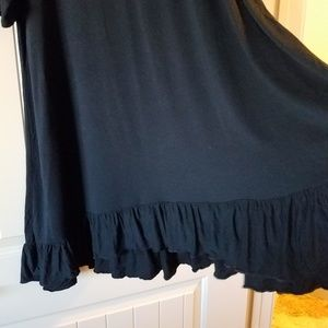 The ultimate tunic! Super long, black, with ruffle